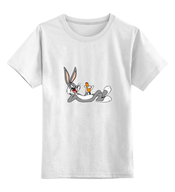 Детская футболка классическая унисекс Printio Багз банни