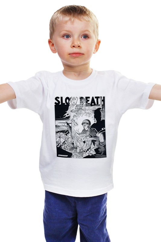 Детская футболка классическая унисекс Printio Slow death t-shirt детская футболка классическая унисекс printio death