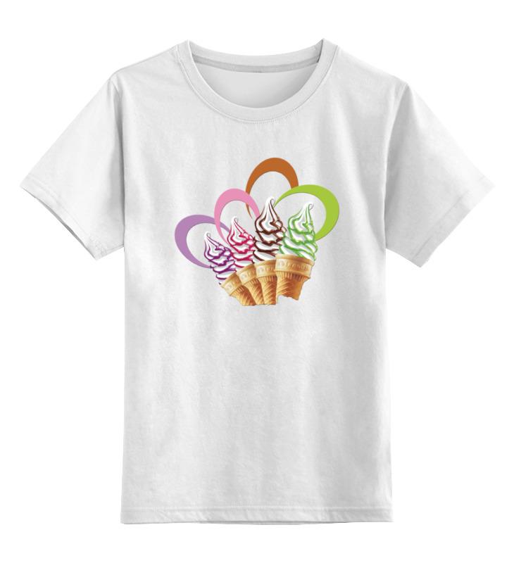 Детская футболка классическая унисекс Printio Мороженое футболка print bar мороженое с глазом