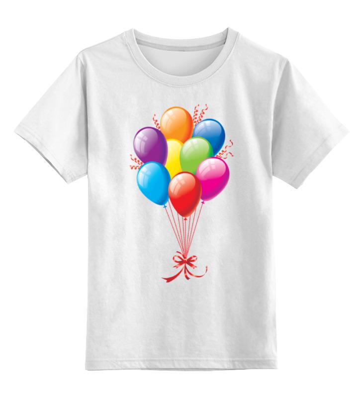 Детская футболка классическая унисекс Printio Воздушные шарики