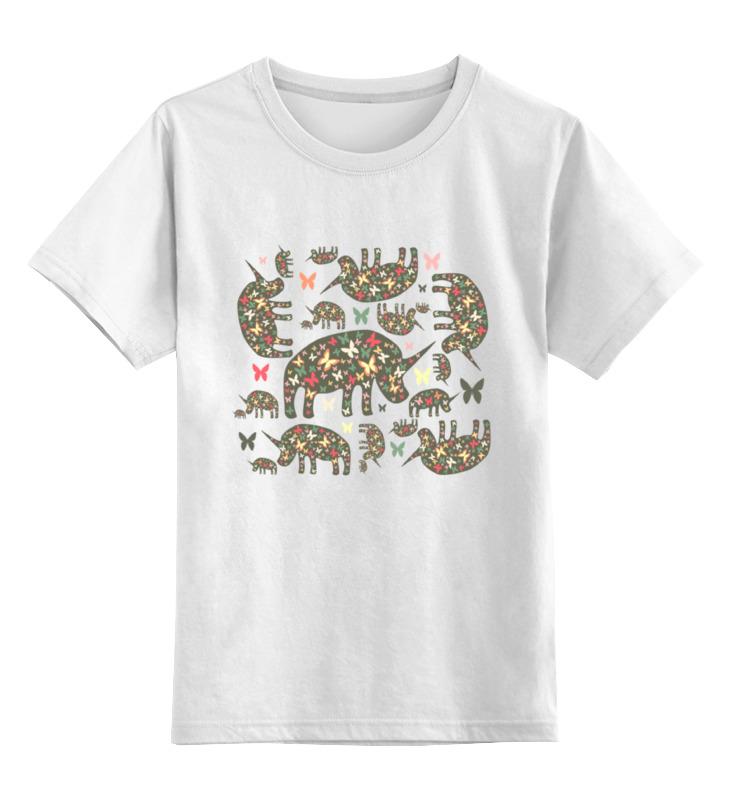 Детская футболка классическая унисекс Printio Очень добрые носороги детская футболка классическая унисекс printio карандаш и самоделкин