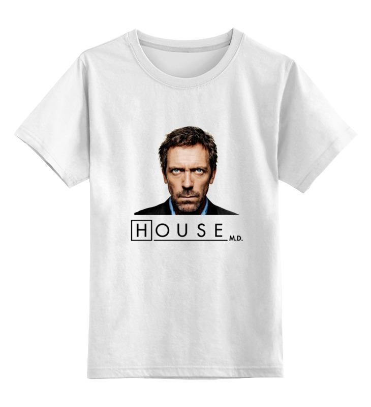 Детская футболка классическая унисекс Printio Доктор хаус 2