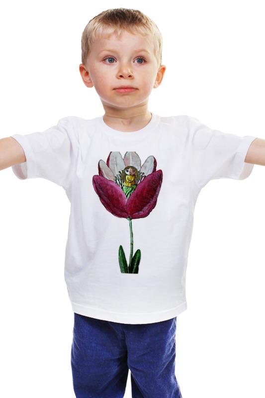Детская футболка классическая унисекс Printio Моя дюймовочка обычная кроватка счастливый малыш 008 дюймовочка тик