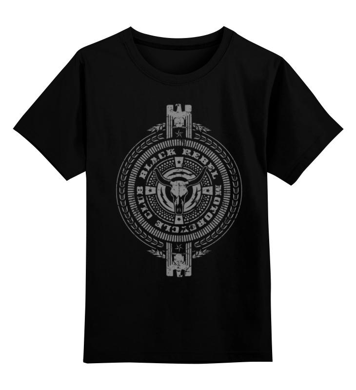 Детская футболка классическая унисекс Printio Black rebel motorcycle club black motorcycle front