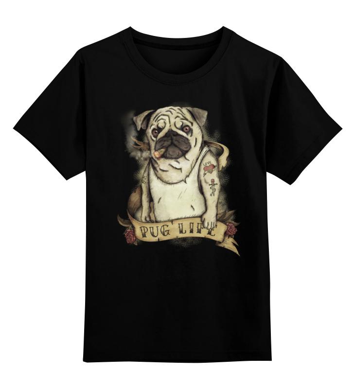 Детская футболка классическая унисекс Printio Жизнь мопса купить щенка мопса за 2000 рублей