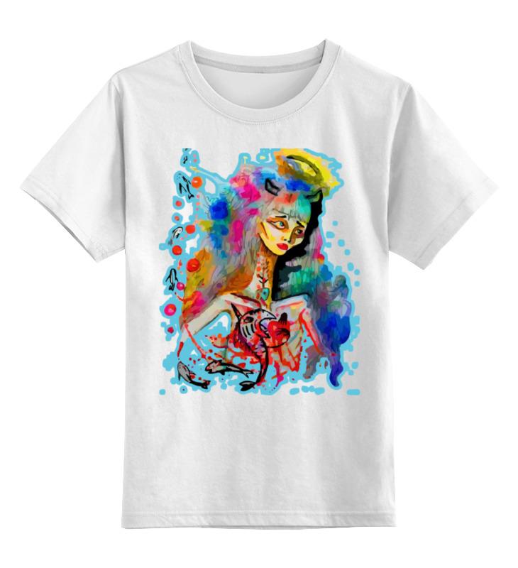 Детская футболка классическая унисекс Printio Водяная фонтан декоративный с подсветкой и имитацией огня гармония 47 21 97см водяная помпа напряжение
