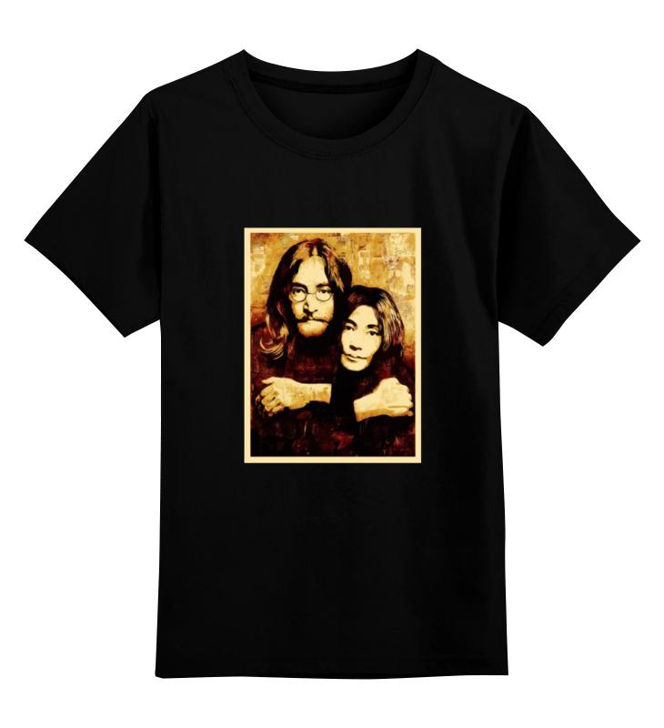 Детская футболка классическая унисекс Printio Джон леннон и йоко оно