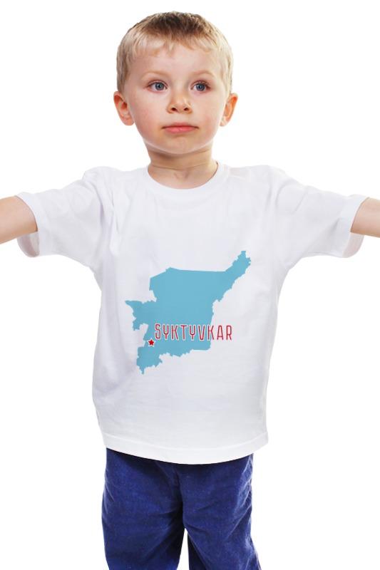 Детская футболка классическая унисекс Printio Республика коми. сыктывкар авто в рассрочку в коми