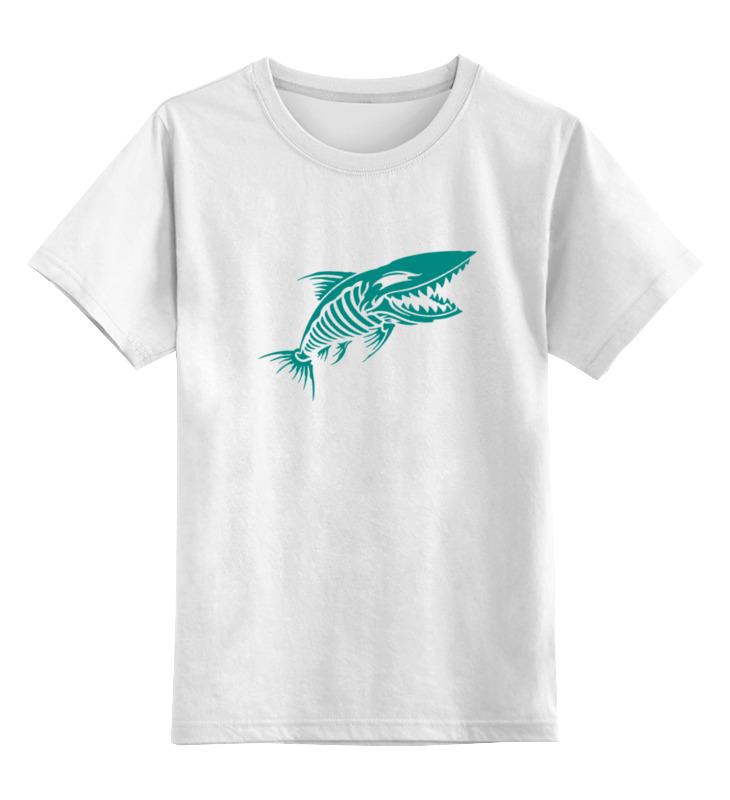 Детская футболка классическая унисекс Printio Рыба скелет