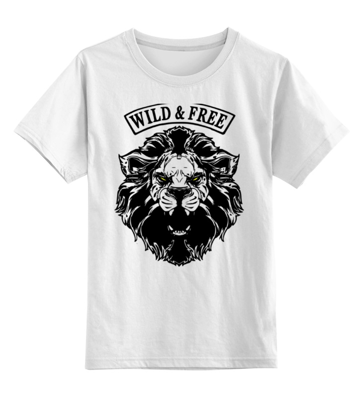 Детская футболка классическая унисекс Printio Wild & free дикость 4 оргия
