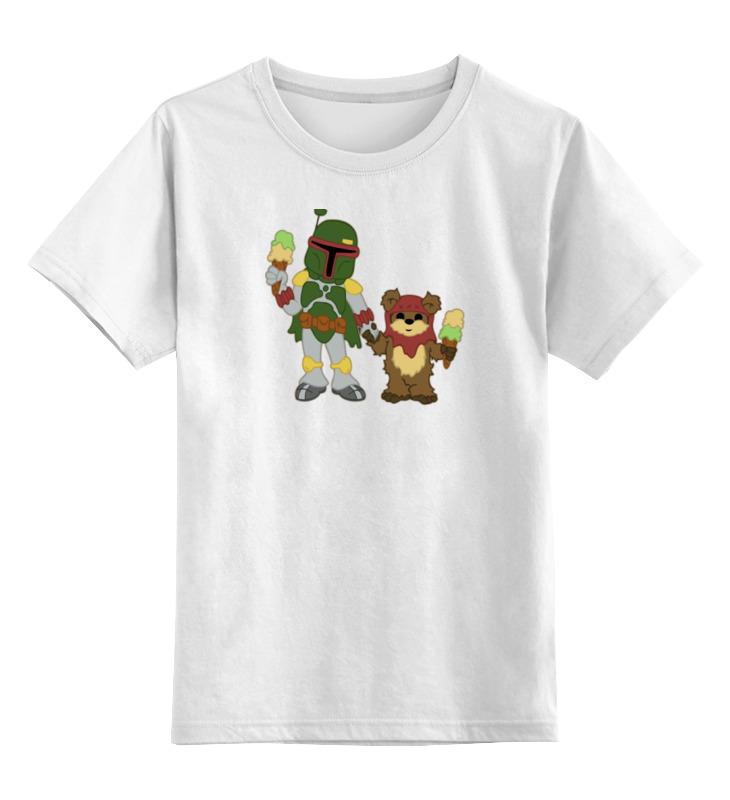 Детская футболка классическая унисекс Printio Боба фетт (звездные войны) цена