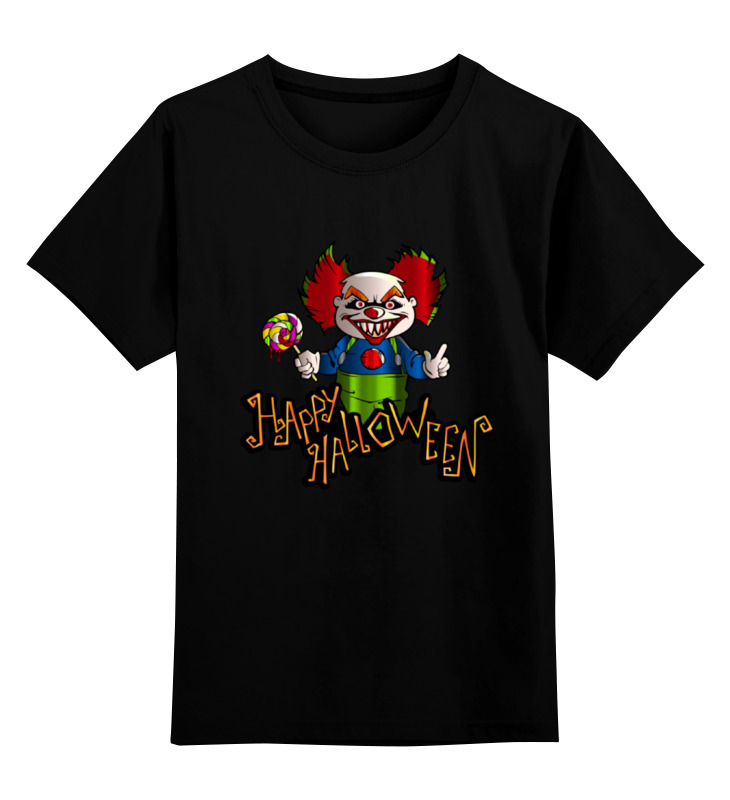 Детская футболка классическая унисекс Printio Хэллоуин клоун цена