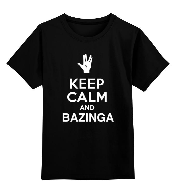 Детская футболка классическая унисекс Printio Bazinga (the big bang theory) цены