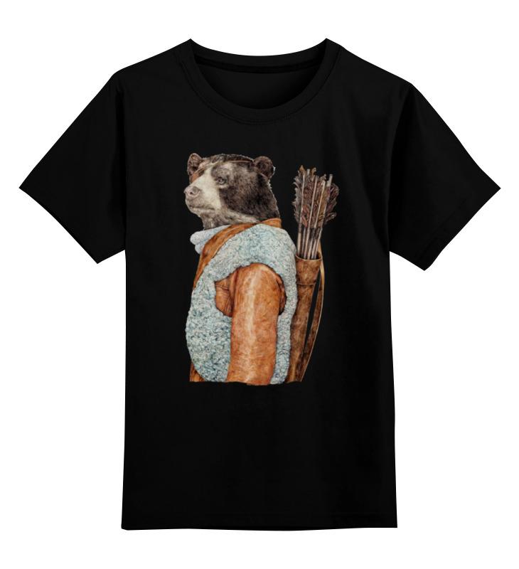 Детская футболка классическая унисекс Printio Медведь охотник