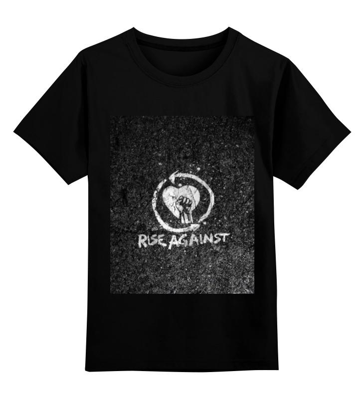 Детская футболка классическая унисекс Printio Rise against - logo каталог montblanc