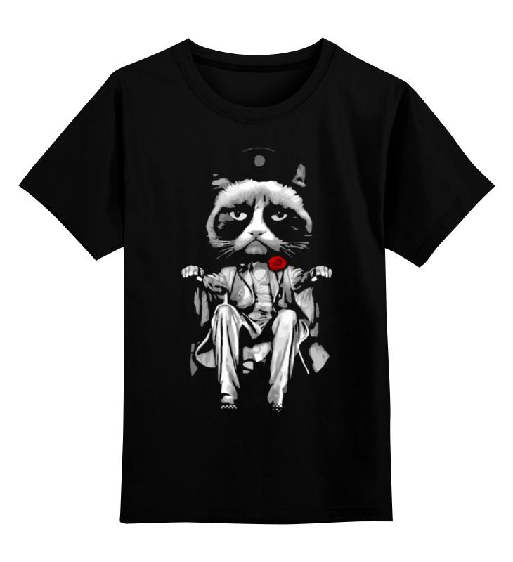 Детская футболка классическая унисекс Printio Сердитый котик (grumpy cat) цена