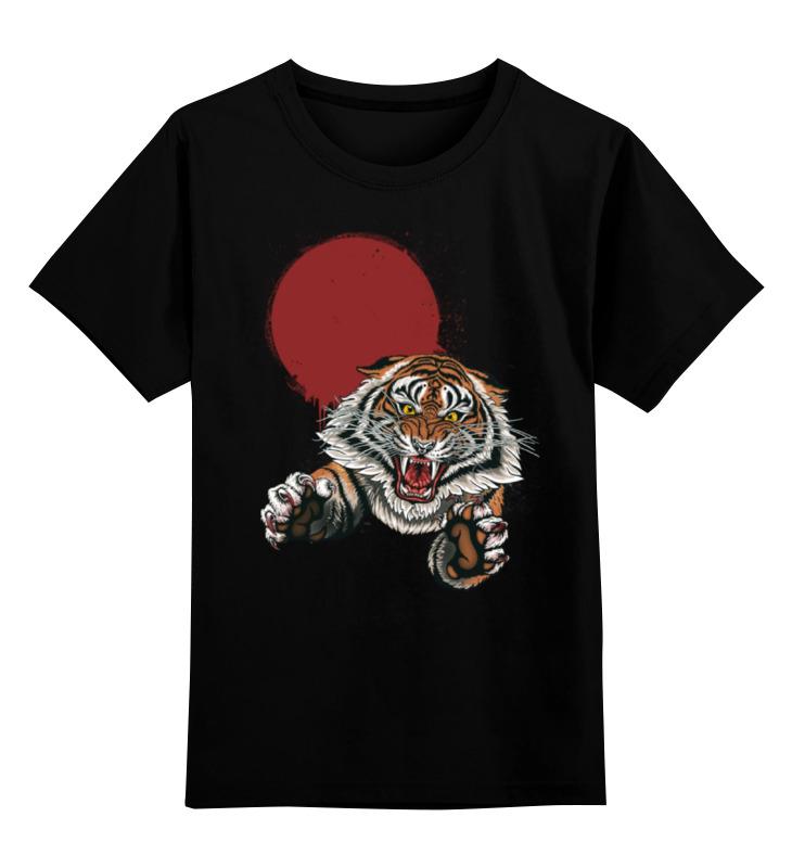 Детская футболка классическая унисекс Printio Бросок тигра детская футболка классическая унисекс printio морда тигра