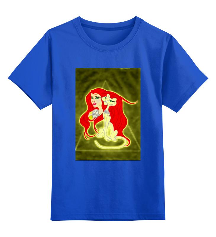 Детская футболка классическая унисекс Printio Бастет-богиня любви футболка wearcraft premium slim fit printio бастет богиня любви