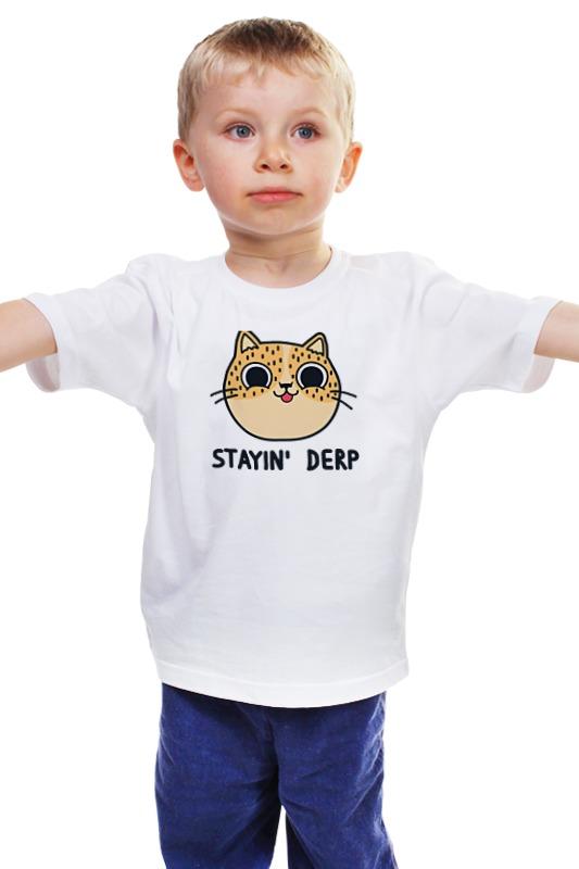 Детская футболка классическая унисекс Printio Котик детская футболка классическая унисекс printio мачете