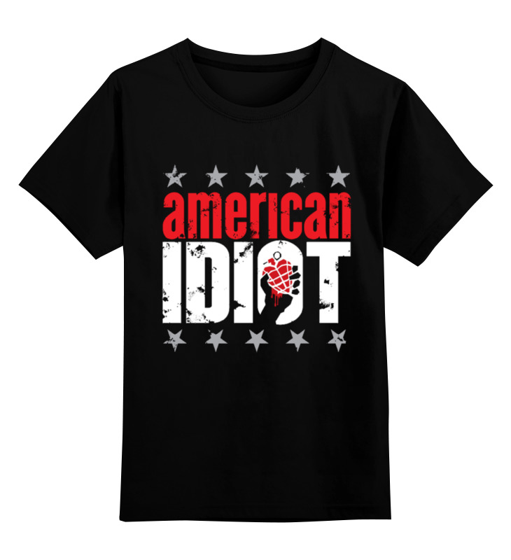 Детская футболка классическая унисекс Printio Green day american idiot майка классическая printio green day american idiot