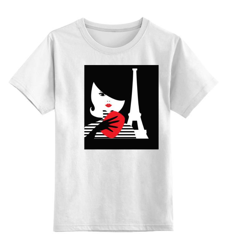 цена Детская футболка классическая унисекс Printio Француженка, фэшн иллюстрация онлайн в 2017 году