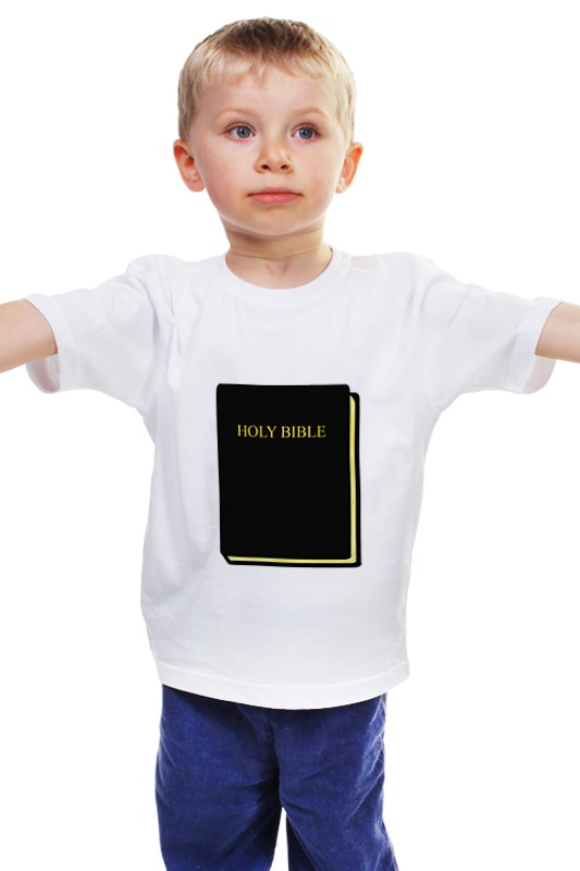 Детская футболка классическая унисекс Printio Holy bible новый завет в изложении для детей четвероевангелие