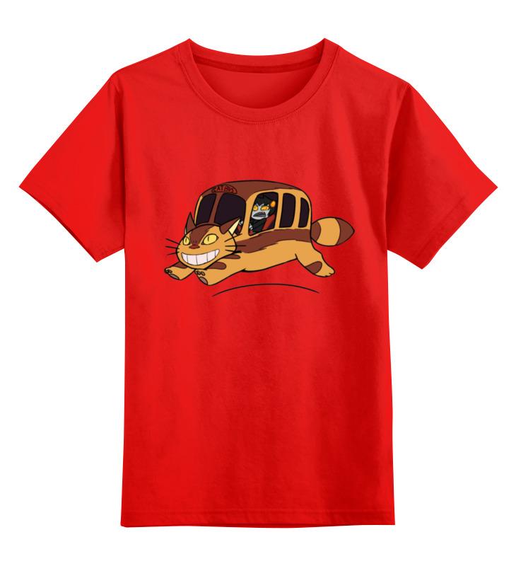 Детская футболка классическая унисекс Printio Автобус для кошек билет на автобус пенза белинский