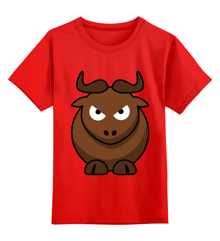 Детская футболка классическая унисекс Printio Злой бык лонгслив printio злой бык