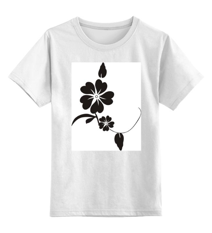 Детская футболка классическая унисекс Printio Черный цветок