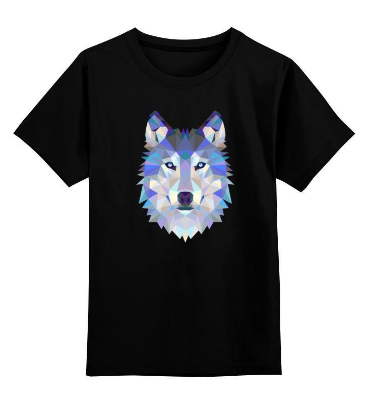 Детская футболка классическая унисекс Printio Геометрический волк