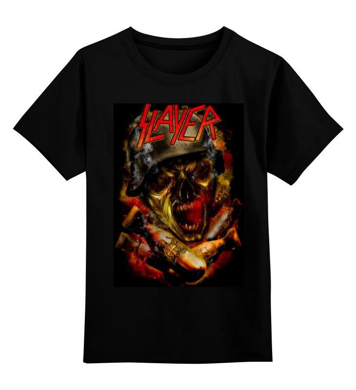 Детская футболка классическая унисекс Printio Slayer thrash metal band виниловая пластинка led zeppelin ll remastered