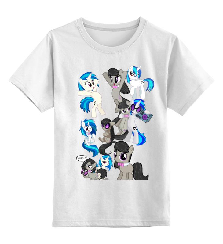 Детская футболка классическая унисекс Printio Octavia and vinyl