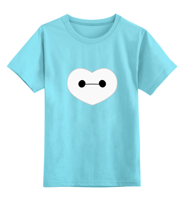 Детская футболка классическая унисекс Printio I love baymax (big hero 6)