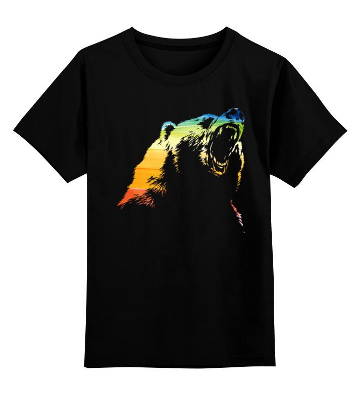 Детская футболка классическая унисекс Printio Гризли цена