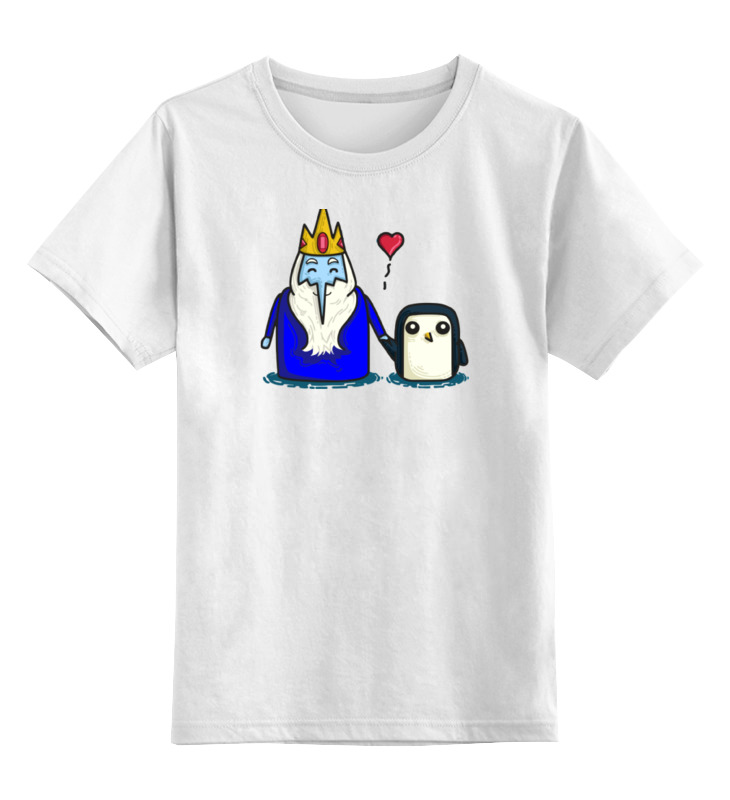 Детская футболка классическая унисекс Printio Ледяной король тумба под телевизор tv 14 с рисунком