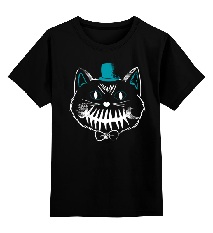 Детская футболка классическая унисекс Printio Улыбчивый кот