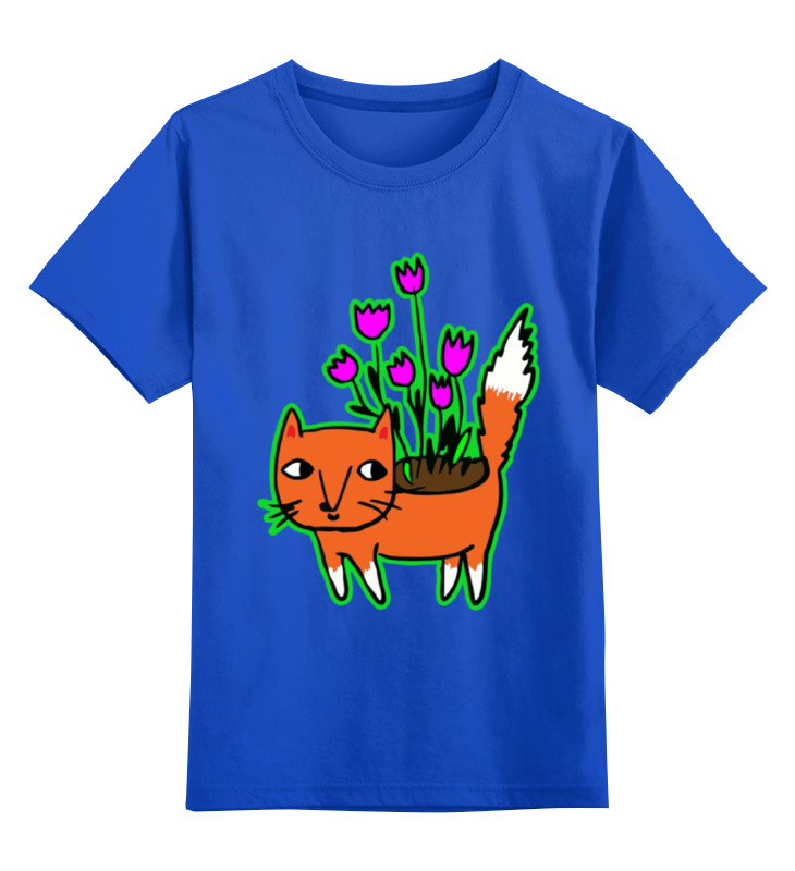 Детская футболка классическая унисекс Printio Лисичка-цветочница