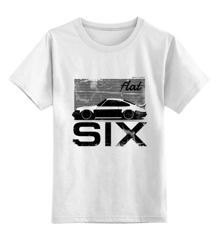Детская футболка классическая унисекс Printio Porsche carrera 911 flat six stance