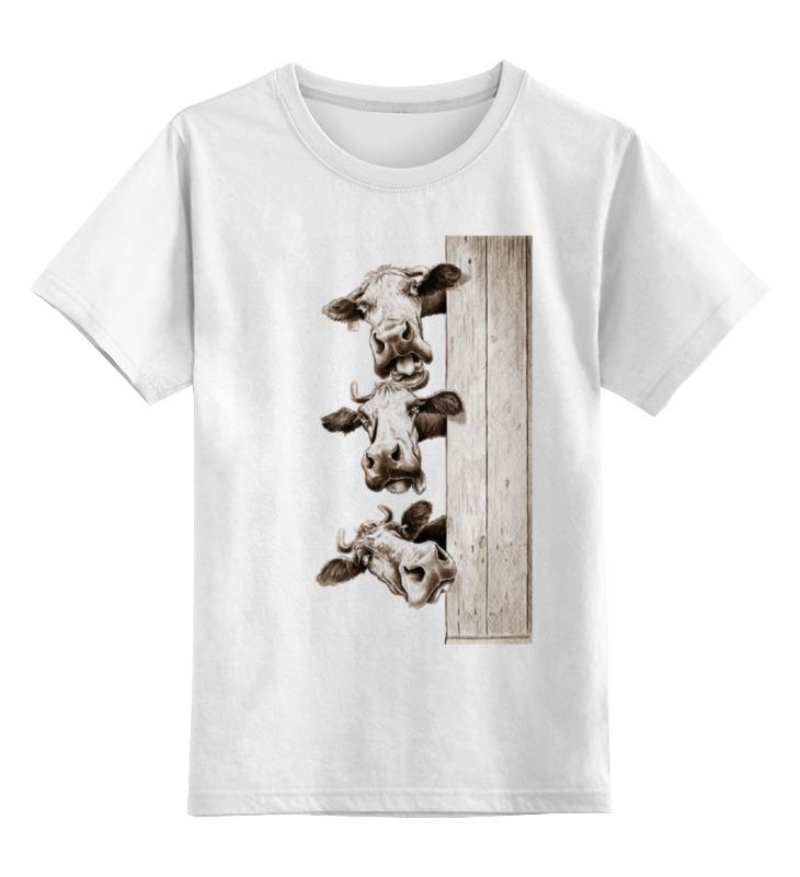 Детская футболка классическая унисекс Printio Три коровы лонгслив printio три коровы