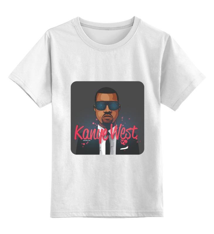 Детская футболка классическая унисекс Printio Kanye west print bar kanye west