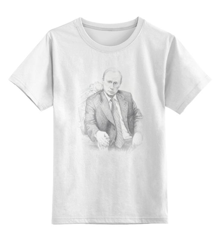 Детская футболка классическая унисекс Printio Патриотичная с путиным детская футболка классическая унисекс printio толстовка с путиным