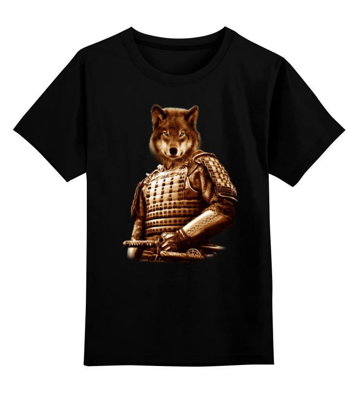 Детская футболка классическая унисекс Printio Волк самурай футболка классическая printio тамбовский волк тебе товарищ