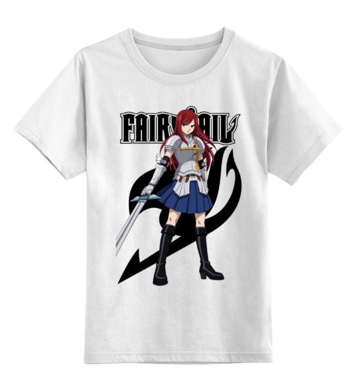 Детская футболка классическая унисекс Printio Эрза скарлет. fairy tail