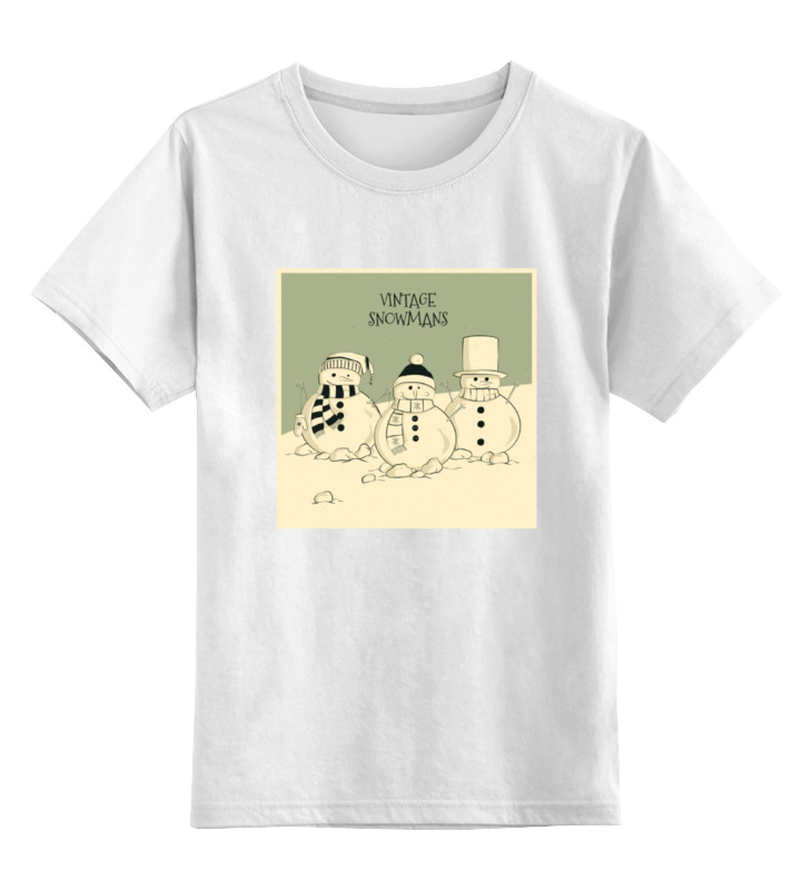 Детская футболка классическая унисекс Printio Снеговик
