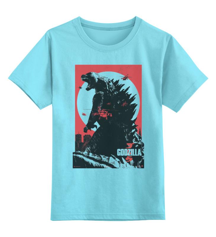 Детская футболка классическая унисекс Printio Godzilla gray