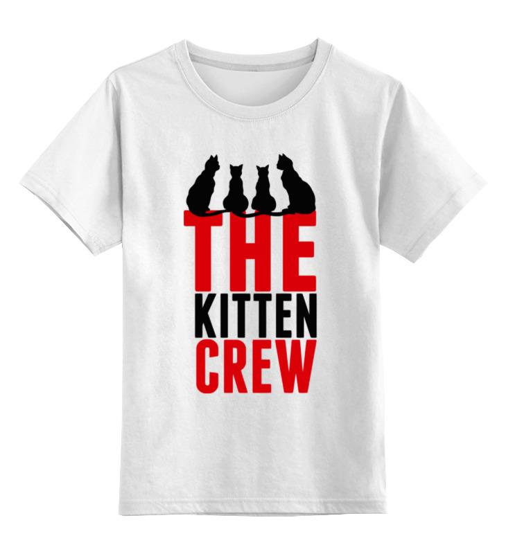 Детская футболка классическая унисекс Printio Команда кошек команда мечты