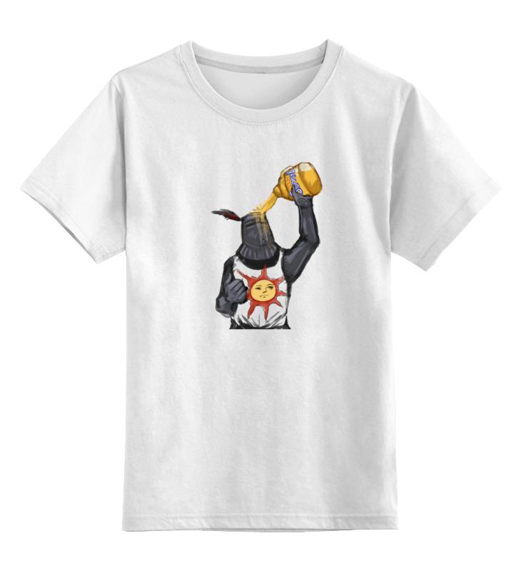 Детская футболка классическая унисекс Printio Dark souls riggs r library of souls