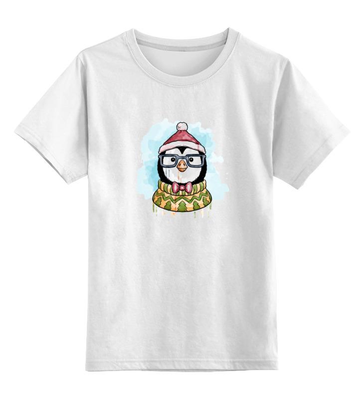 Детская футболка классическая унисекс Printio Счастливый пингвиненок цена