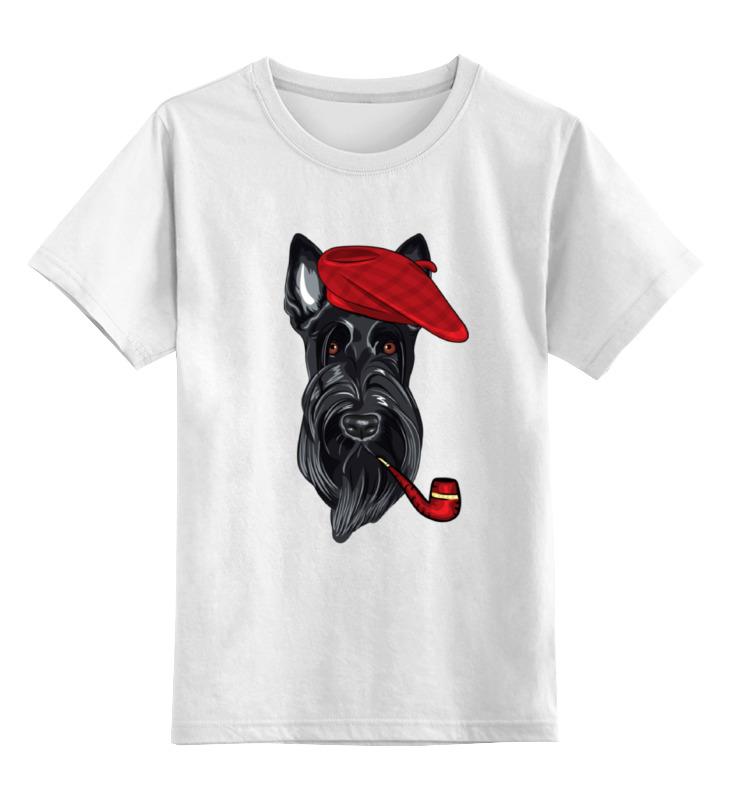 Детская футболка классическая унисекс Printio Шотландский терьер (скотч-терьер) футболка wearcraft premium slim fit printio шотландский терьер скотч терьер