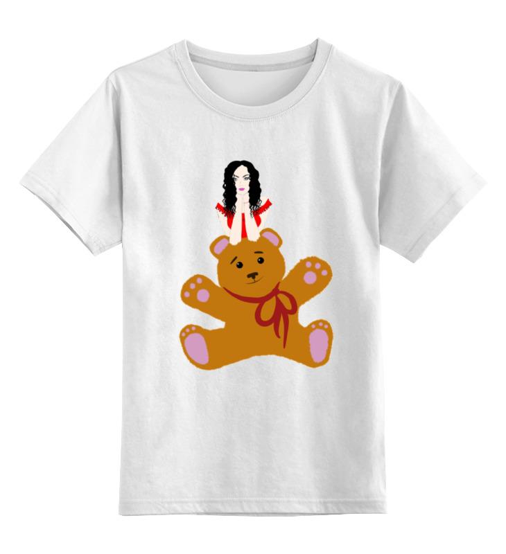 Детская футболка классическая унисекс Printio Девушка и игрушка детская футболка классическая унисекс printio девушка